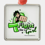 Lyme Disease Fist - Fight Like a Girl Christmas Ornaments