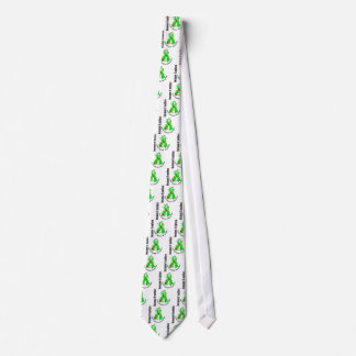 LYME DISEASE Flower Ribbon 3 Neck Tie