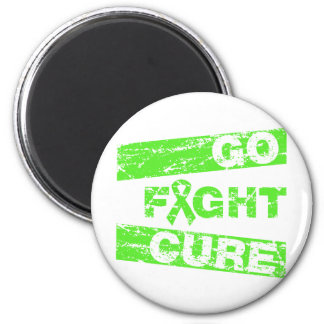Lyme Disease Go Fight Cure 2 Inch Round Magnet