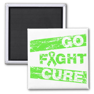 Lyme Disease Go Fight Cure 2 Inch Square Magnet