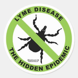 Lyme Disease: Hidden Epidemic Classic Round Sticker