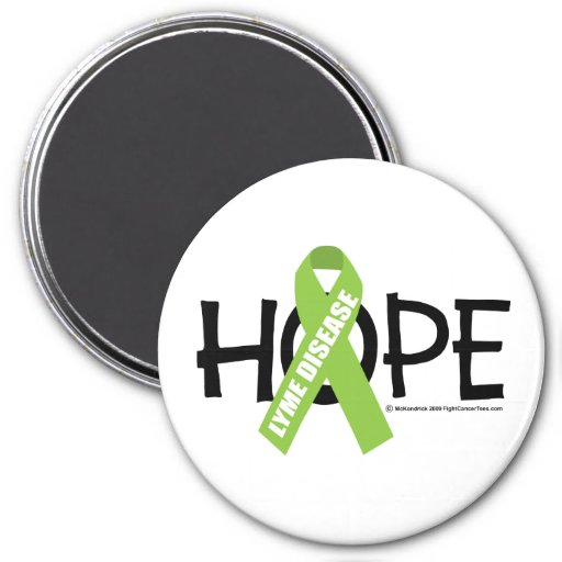 Lyme Disease Hope 3 Inch Round Magnet