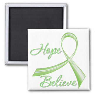 Lyme Disease - Hope Believe 2 Inch Square Magnet