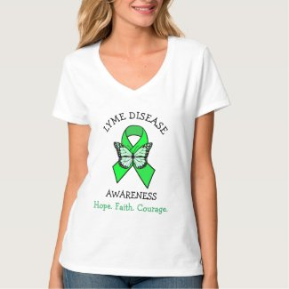 Lyme Disease Hope Faith Courage T-Shirt