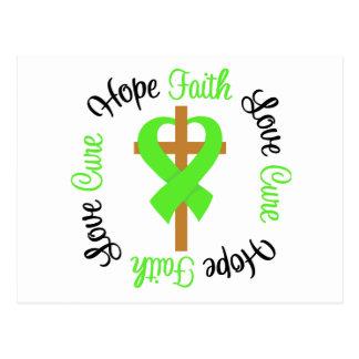Lyme Disease Hope Faith Love Prayer Cross Postcard