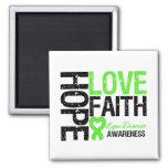 Lyme Disease Hope Love Faith 2 Inch Square Magnet