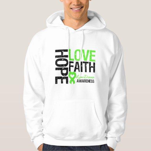 Lyme Disease Hope Love Faith Hoodie