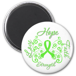 Lyme Disease Hope Motto Butterfly 2 Inch Round Magnet