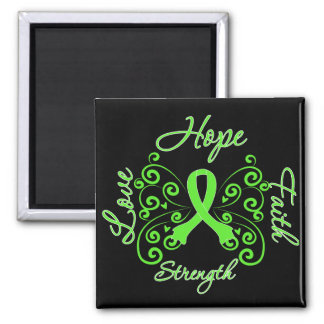 Lyme Disease Hope Motto Butterfly 2 Inch Square Magnet