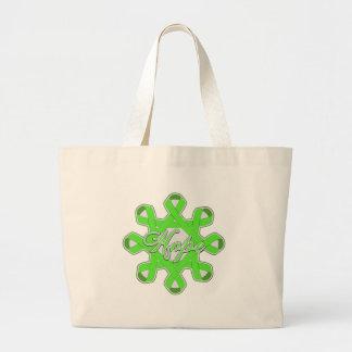 Lyme Disease Hope Unity Ribbons Canvas Bag