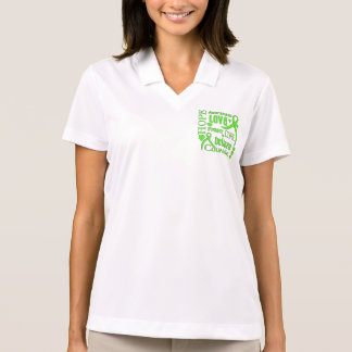 Lyme Disease Hope Words Collage Polo T-shirt