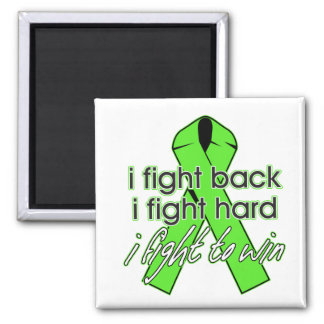 Lyme Disease I Fight Back 2 Inch Square Magnet