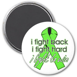 Lyme Disease I Fight Back 3 Inch Round Magnet