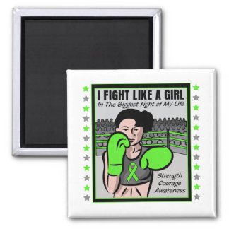 Lyme Disease I Fight Like A Girl Battle 2 Inch Square Magnet