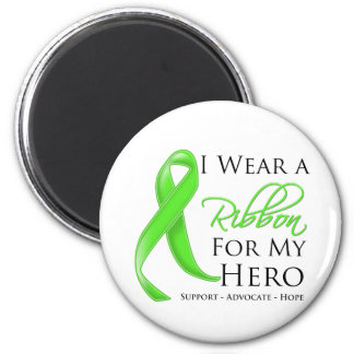 Lyme Disease I Wear a Ribbon For My Hero 2 Inch Round Magnet