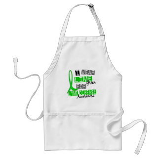 Lyme Disease I Wear Lime Green For Awareness 37 Adult Apron