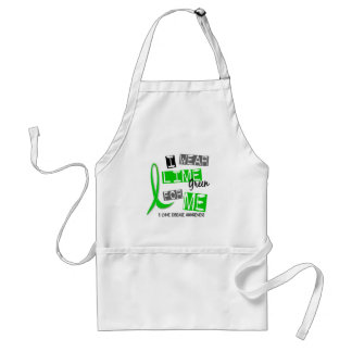Lyme Disease I Wear Lime Green For Me 37 Adult Apron