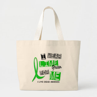 Lyme Disease I Wear Lime Green For Me 37 Tote Bag