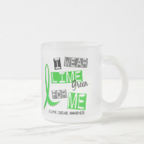 Lyme Disease I Wear Lime Green For Me 37 Frosted Glass Coffee Mug