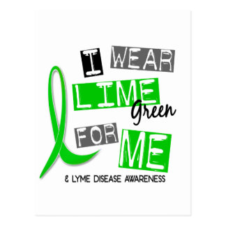Lyme Disease I Wear Lime Green For Me 37 Postcard