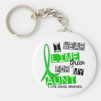 Lyme Disease I Wear Lime Green For My Aunt 37 Basic Round Button Keychain