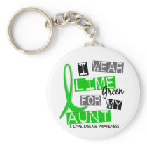 Lyme Disease I Wear Lime Green For My Aunt 37 Keychain
