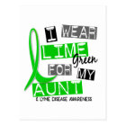 Lyme Disease I Wear Lime Green For My Aunt 37 Postcard