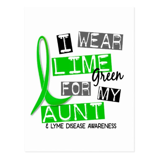 Lyme Disease I Wear Lime Green For My Aunt 37 Postcards