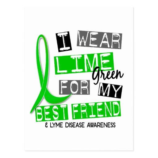 Lyme Disease I Wear Lime Green For My Best Friend Postcards