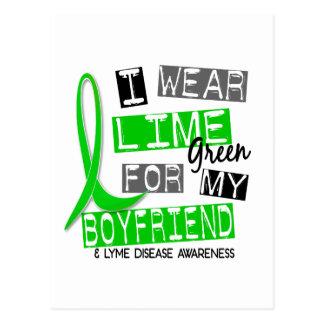 Lyme Disease I Wear Lime Green For My Boyfriend 37 Postcard