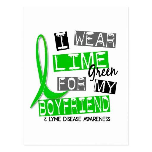 Lyme Disease I Wear Lime Green For My Boyfriend 37 Post Cards