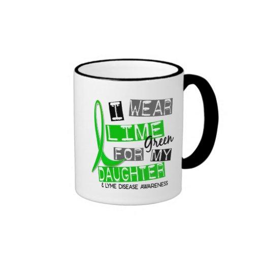 Lyme Disease I Wear Lime Green For My Daughter 37 Ringer Coffee Mug