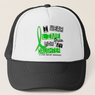 Lyme Disease I Wear Lime Green For My Daughter 37 Trucker Hat