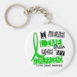 Lyme Disease I Wear Lime Green For My Girlfriend 3 Keychain