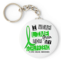 Lyme Disease I Wear Lime Green For My Girlfriend 3 Keychain