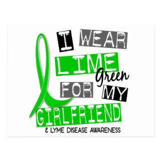 Lyme Disease I Wear Lime Green For My Girlfriend 3 Post Card