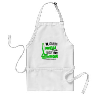 Lyme Disease I Wear Lime Green For My Granddaughte Adult Apron
