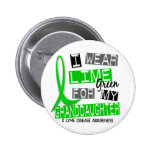 Lyme Disease I Wear Lime Green For My Granddaughte Buttons