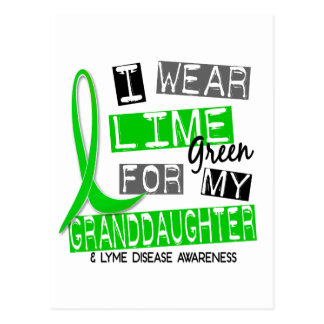 Lyme Disease I Wear Lime Green For My Granddaughte Postcard