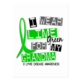 Lyme Disease I Wear Lime Green For My Grandma 37 Postcard