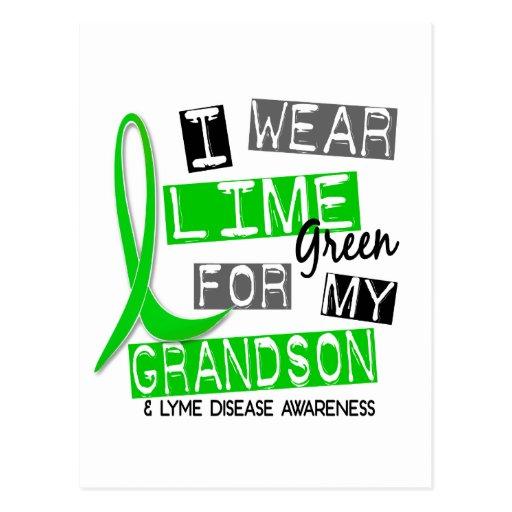 Lyme Disease I Wear Lime Green For My Grandson 37 Postcards
