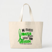 Lyme Disease I Wear Lime Green For My Husband 37 Large Tote Bag