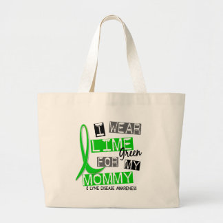 Lyme Disease I Wear Lime Green For My Mommy 37 Large Tote Bag