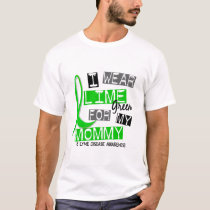 Lyme Disease I Wear Lime Green For My Mommy 37 T-Shirt