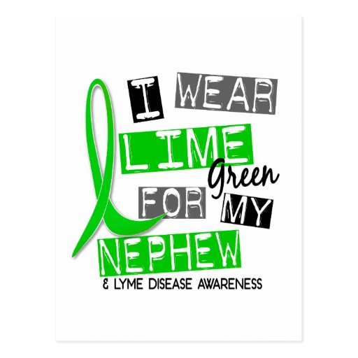 Lyme Disease I Wear Lime Green For My Nephew 37 Postcards