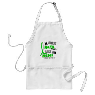 Lyme Disease I Wear Lime Green For My Niece 37 Adult Apron