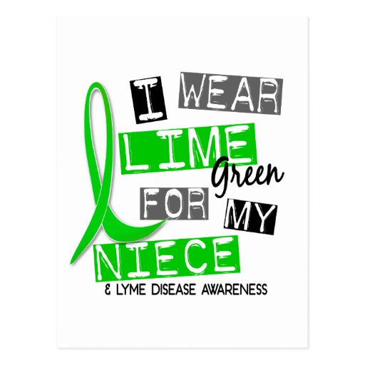 Lyme Disease I Wear Lime Green For My Niece 37 Postcard
