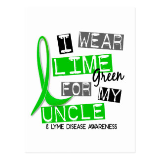 Lyme Disease I Wear Lime Green For My Uncle 37 Postcard