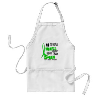 Lyme Disease I Wear Lime Green For My Wife 37 Adult Apron
