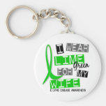 Lyme Disease I Wear Lime Green For My Wife 37 Keychains